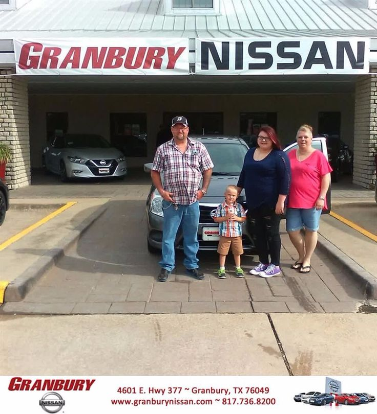 Greg was awesome and the finance dept was awesome. My experience here was the best that I have ever had in any car dealership. They went the extra mile and took the time to go over every aspect of the car buying process with me and my husband. Thank you Granbury Nissan. I look forward to many more years of business with you. - Carey Robertson #HappyCustomers
