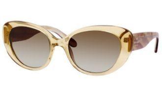 Kate Spade Sunglasses - Franca/S / Frame: Champagne Lens: Brown Gradient Kate Spade. $92.80