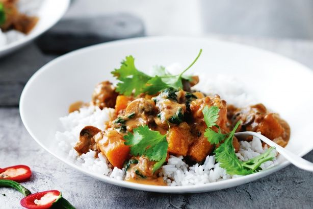 Spice up chilly evenings with this hearty, vegetarian curry.