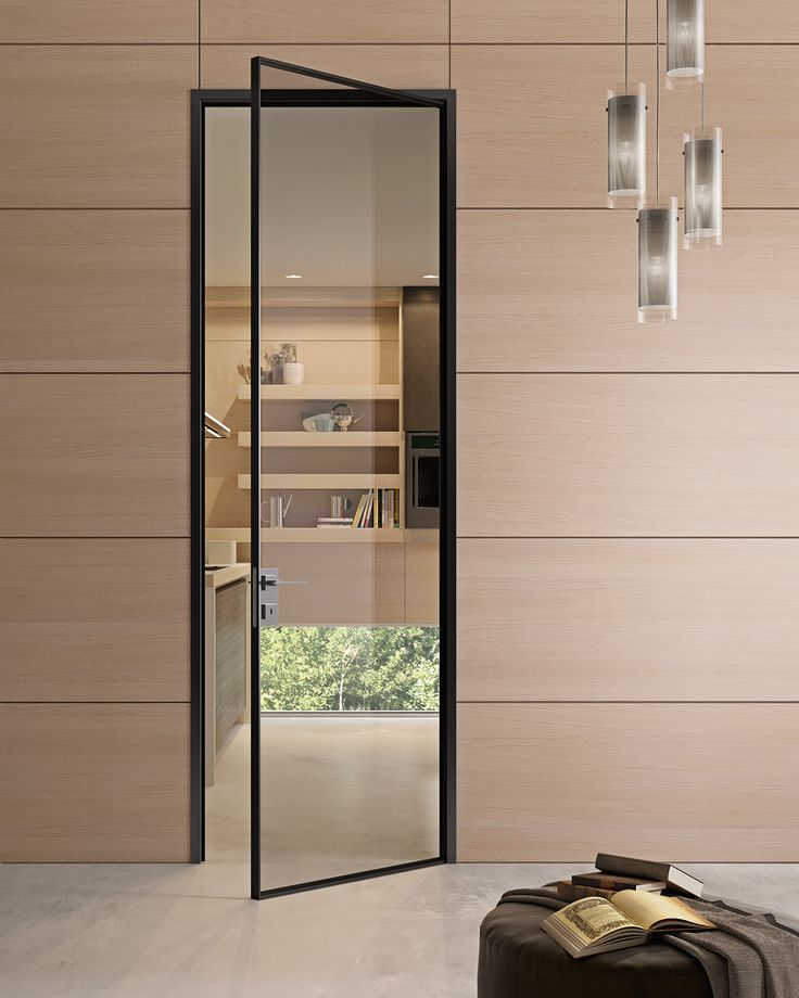 Hinged #glass and aluminium #door G-LIKE - GIDEA