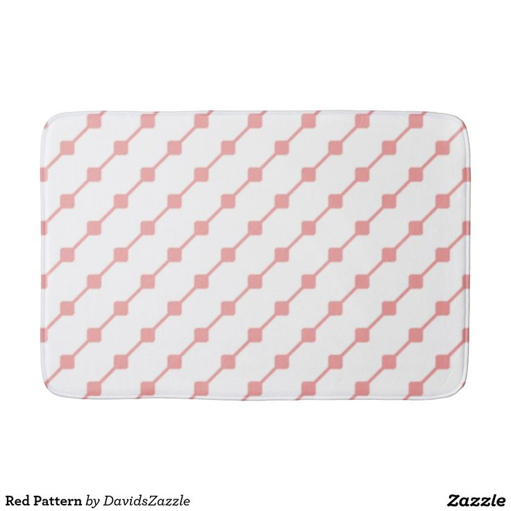 Red Pattern Bath Mat  Available on many more products! Type in the name of this design in the search bar on my Zazzle products page!   #abstract #art #pattern #design #color #accessory #accent #zazzle #buy #sale #bathroom #home #decor #bedroom #duvet #cover #shower #curtain #toothbrush #soap #dispenser #amenities #blanket #throw #accent #living #modern #chic #contemporary #style #life #lifestyle #minimal #simple #plain #minimalism #square #line #white #red