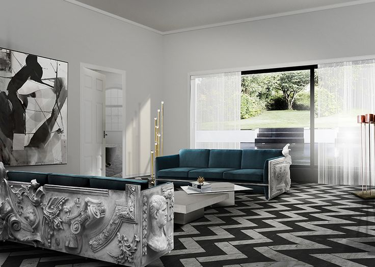 The creativity and rich decoration of the Versailles Palace contributed to the inspiration of the creation of this exuberant sofa created by Boca do Lobo. The best inspiration for interior design ideas!