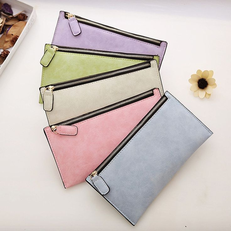 womens card holder wallet with zipper