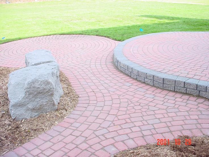 Red Brick Paver Two Tier Patio Brick Pavers Pinterest