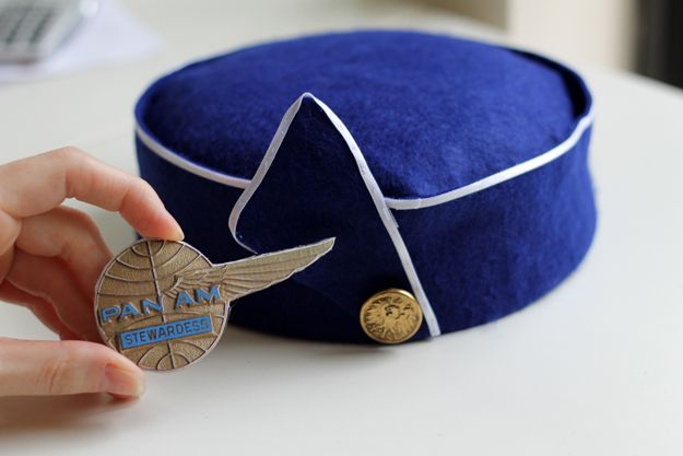 How fun! How To Make A 1963 Pan Am Inspired Stewardess Hat