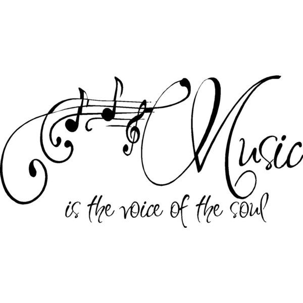 QUOTE-Music is the voice of the soul-special buy any 2 quotes and get... ❤ liked on Polyvore