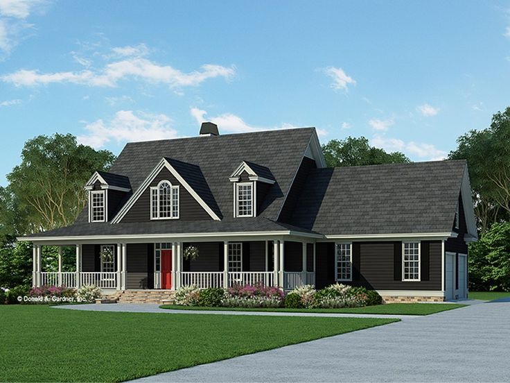Farmhouse style 2 story 4 bedrooms s house plan with 2164 for 2 story farmhouse