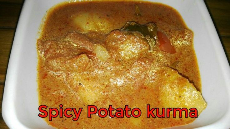 Spicy potato kurma - Spicy potato Kurma for chapati or rice. This Kurma is little different than normal Kurma I have not added much coconuts but for the Kurma people add more coconut to get the thickness. But instead …