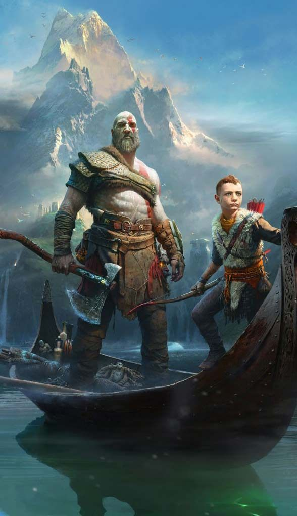 God Of War Kratos And Atreus Game Desktop Wallpaper Videogametesterfromhome God Of War Kratos God Of War War