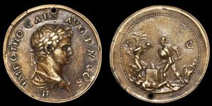 Ancient Roman Imperial Coins - Giovanni Cavino - Italian Renaissance Paduan Medallion of Otho