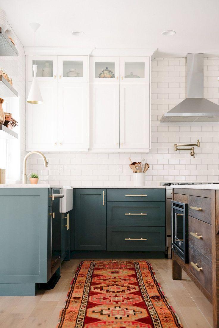 Cool 55 Gorgeous Modern Farmhouse Kitchen Cabinets