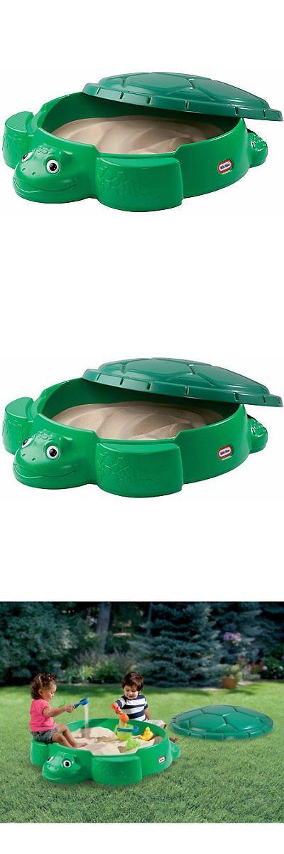 Sandbox Toys and Sandboxes 145990: Little Tikes Turtle Sandbox With Cover Seats Outdoor Backyard Play Set Plastic -> BUY IT NOW ONLY: $53.9 on eBay!