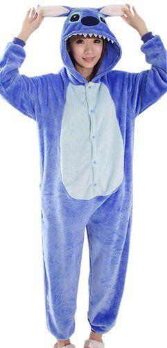 EOZY Damen Herren Overall Jumpsuit Tierkostüm (L, #I Blau Stitch)