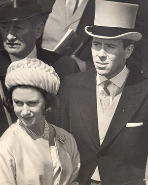 theguardian:  Princess Margaret and her husband the Earl of Snowdon at Epsom for the Derby, 1962