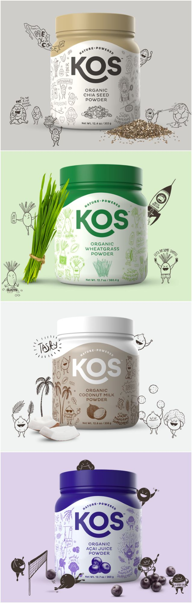 Brand and Packaging Design for a Family of Organic Plant-Based Products