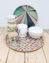 Amazing new print and patterned crockery range from France.