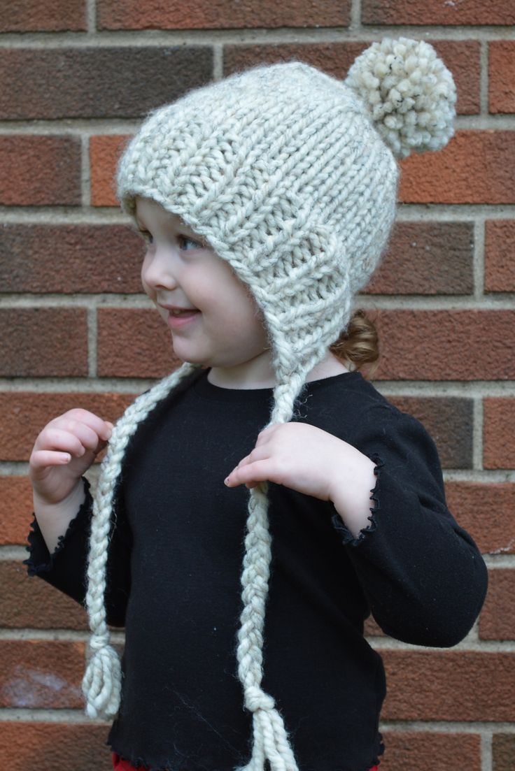 Ravelry: Split-Brim Toddler Hat pattern by Stranded Knitter _ Using super bulky yarn, this adorable hat knits up in just an hour or two.