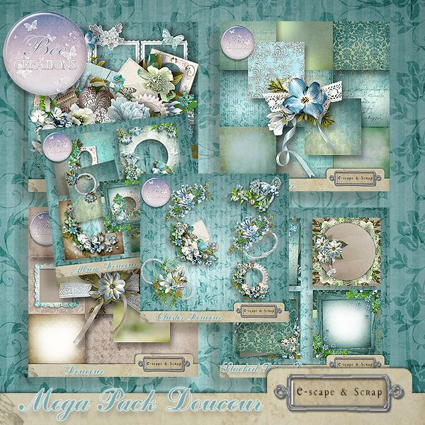 **NEW** Douceur by Bee Creation  Available @  https://www.e-scapeandscrap.net/boutique/index.php?main_page=index&cPath=113_219&zenid=fbc2d845b59e97bbe070191c1e1cbfea http://scrapfromfrance.fr/shop/index.php?main_page=index&manufacturers_id=102 http://digitalscrapdesigns.com/digitalscrapstore/index.php?main_page=index&manufacturers_id=125
