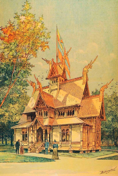 Norwegian Building At The  Chicago World S Fair