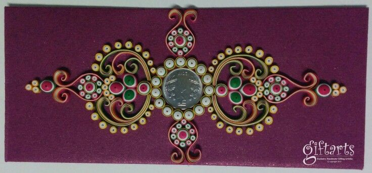 Ornamental Quilling Envelope