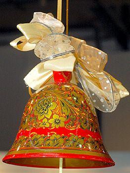 Колокольчик, хохломская роспись, автор Нечаева Р.Н.