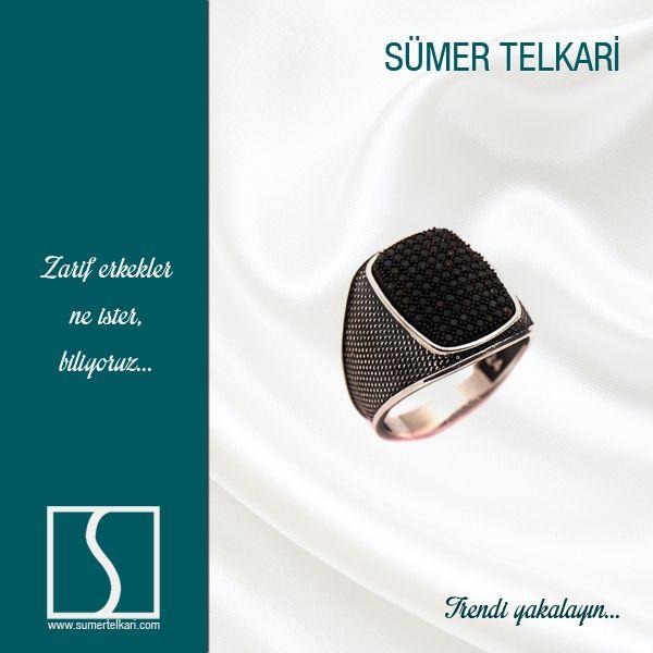 Zarif erkekler ne ister, biliyoruz...  http://www.sumertelkari.com/SIYAH-SAFIR-TASLI-TASARIM-EL-YAPIMI-GUMUS-YUZUK-446,PR-7084.html  #mensfashion #handmade #sapphire #ring #modern #trending #shopping #love #giftformen
