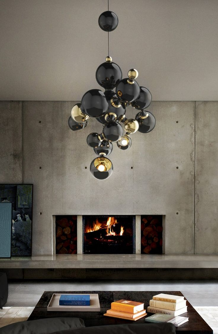 Barrisol lumi 232 re color colored lighting stretch ceiling - Atomic Suspension By Delightfull Black And Gold Is Always A Good Option And This Lighting