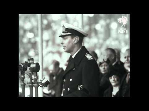 The King's Real Speech (George VI).  This is not the same speech as in the movie, but it does show that he was still having a little trouble - but he recovers himself fairly well, regardless.