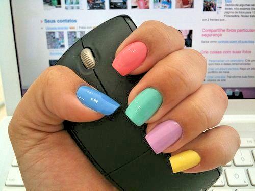 #colorfulnails #rainbownails
