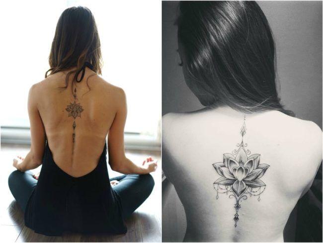 Elegant tattoo motives for spine of special charm