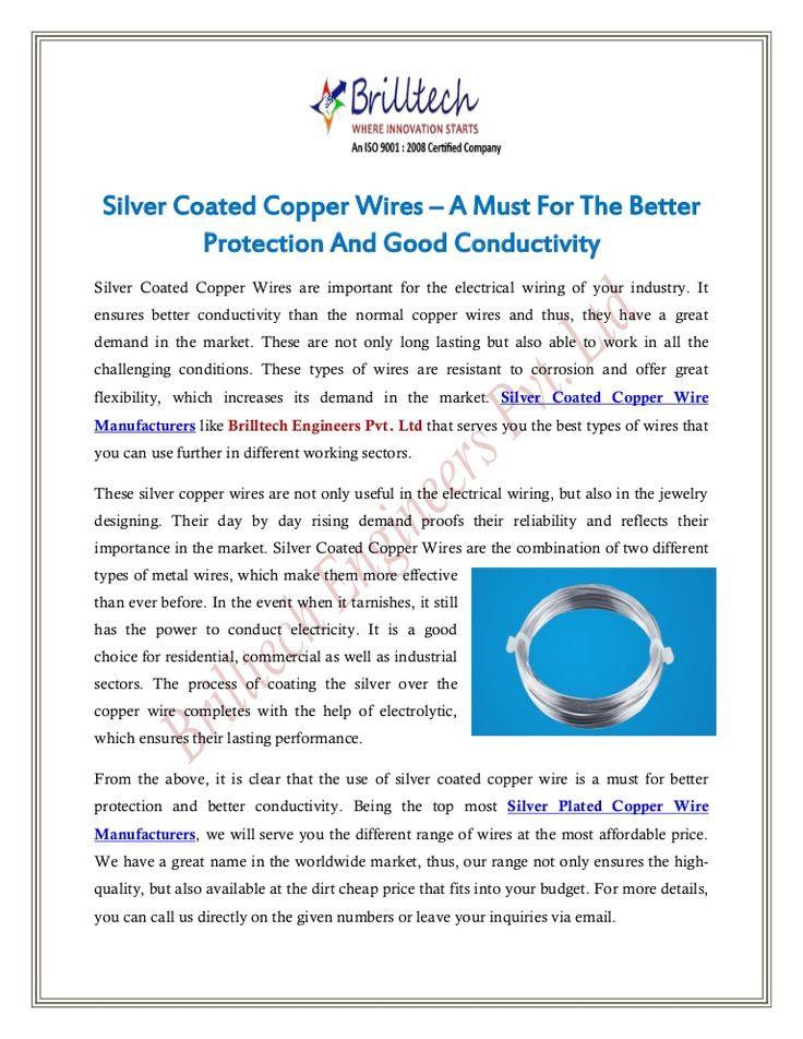 16 best Silver Coated Copper Wire images on Pinterest | Copper wire ...