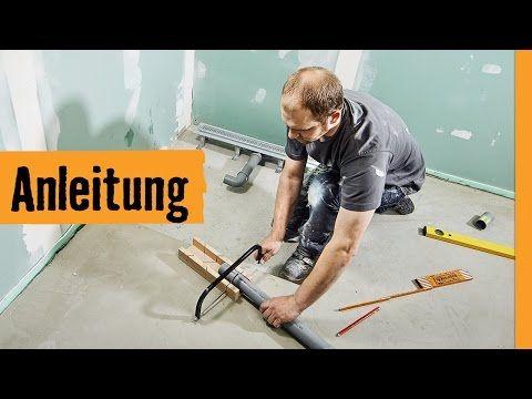 Bodengleiche Dusche einbauen: Linienentwässerung   HORNBACH Meisterschmiede - YouTube