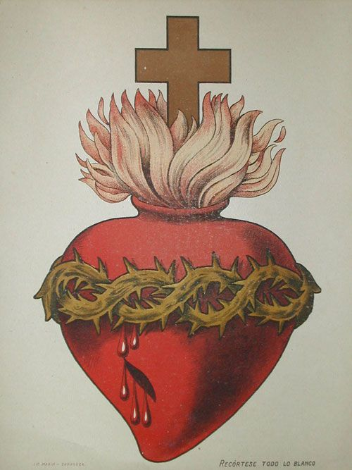Vintage illustration of the Sacred Heart                                                                                                                                                                                 More