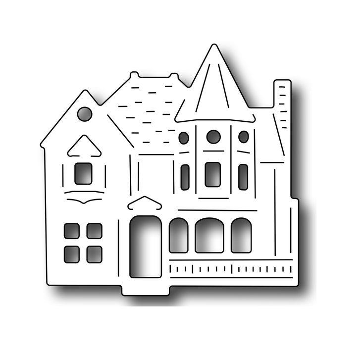 Frantic Stamper Precision Die - Village Victorian House