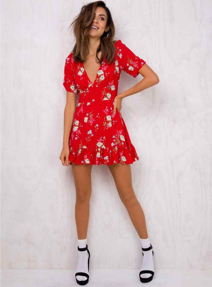 Bright Blooms Mini Dress