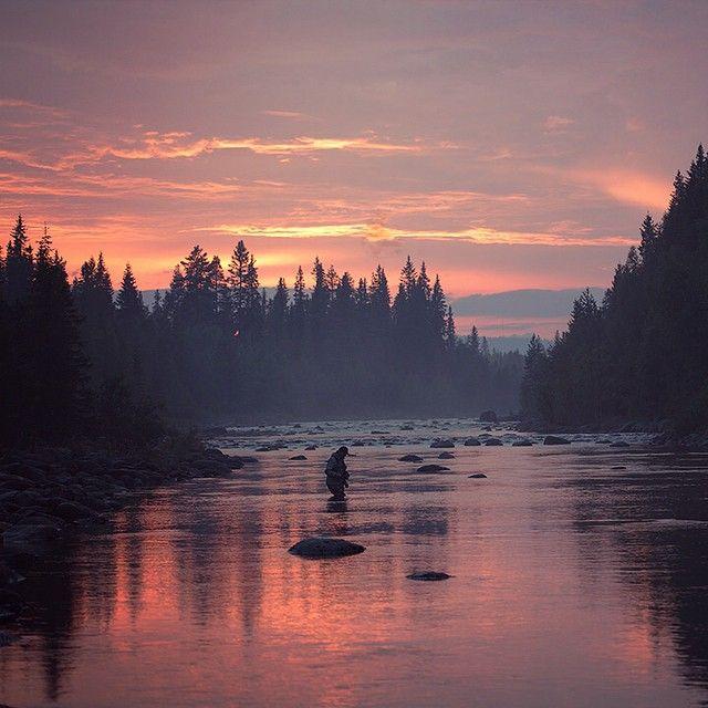 Juktån in Sorsele, late night in Swedish Lapland. #flyfishing #sorsele