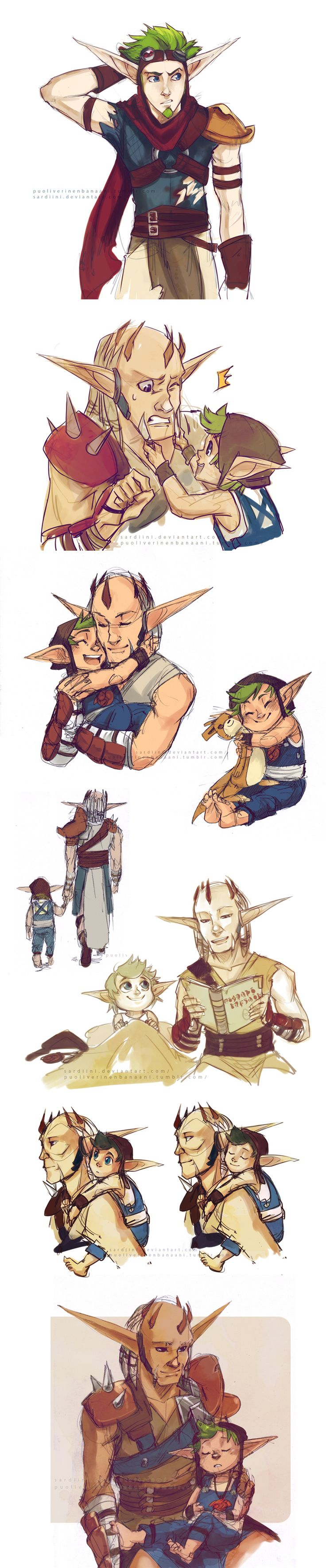 Jak - Mar and Damas by Sardiini.deviantart.com on @deviantART-CRYING FOREVER