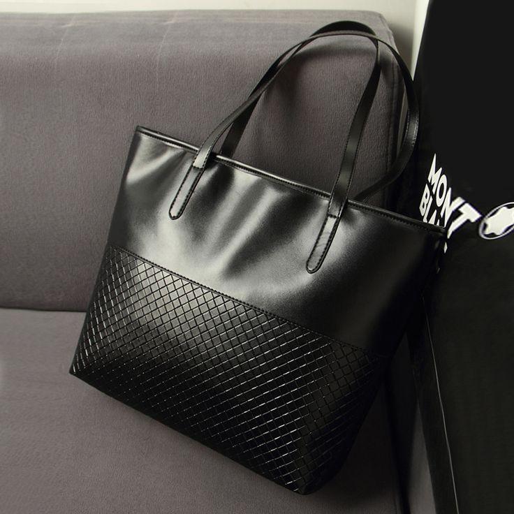 2016 Hot Women Summer Black PU Leather Bag Weave Pattern Handbags Vintage Clutches Messenger Female Shopping Tote Bags Hot www.bernysjewels.com #bernysjewels #jewels #jewelry #nice #bags