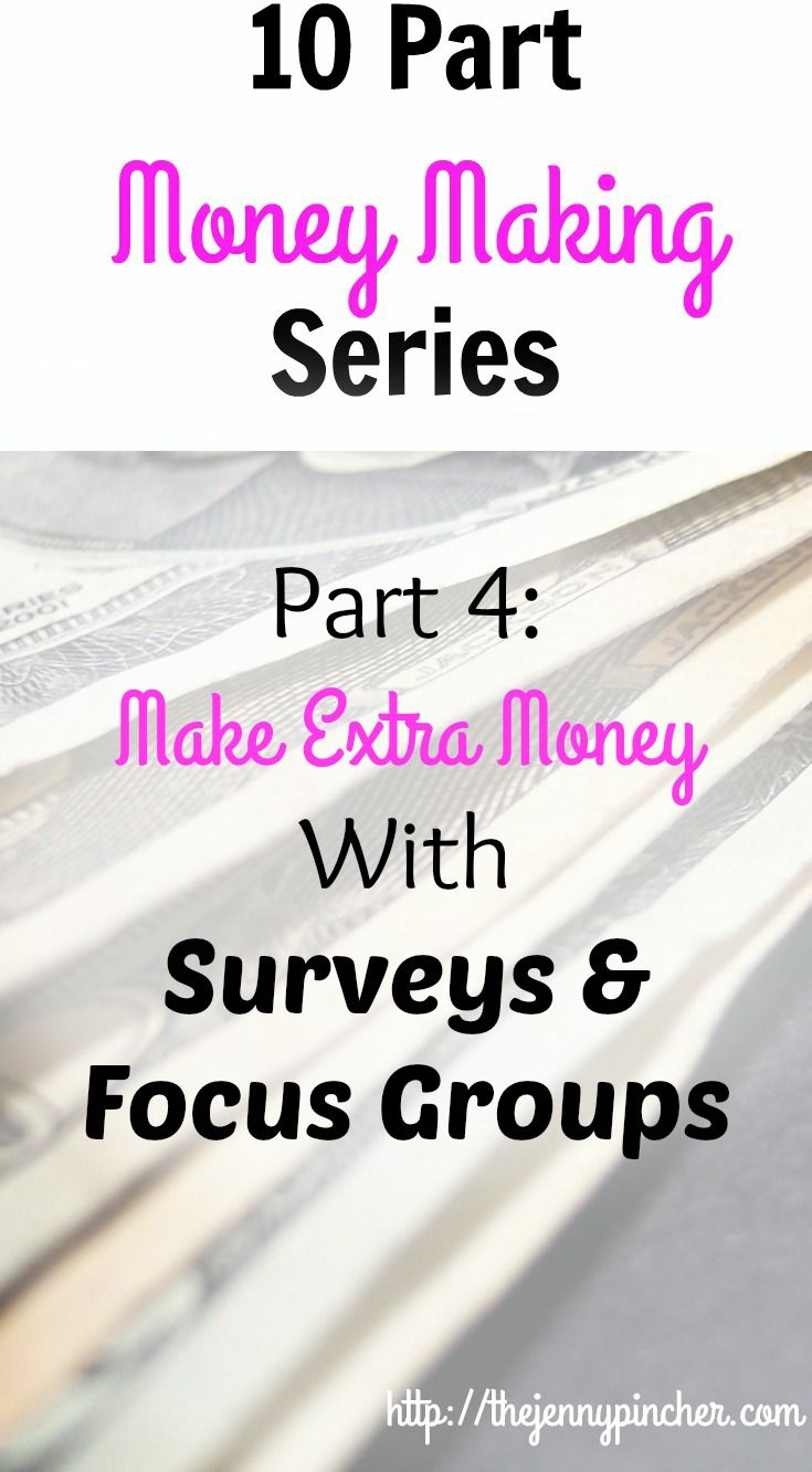 Learn how to make extra money in this 10 Part Series: Make Extra Money with Surveys & Focus Groups via @thejennypincher