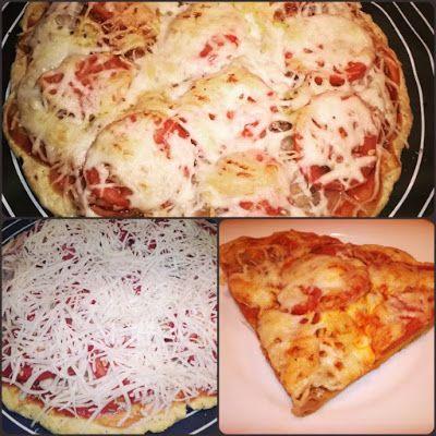 Diétás pizza recept szénhidrát csökkentő lisztből (gluténmentes paleo) ~ Éhezésmentes Karcsúság Szafival