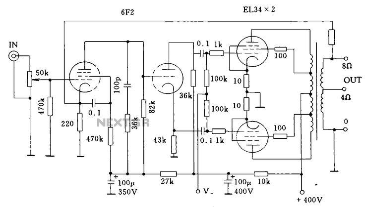 techno 4 amplifier circuit diagram