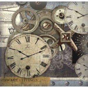 filc s potiskem - hodiny