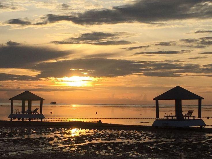 sunset @ semawang beach, Sanur, Bali, Indonesia.