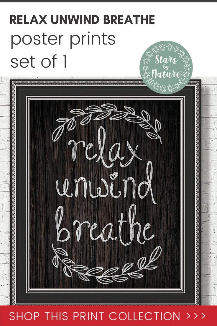 Amazon Com Farmhouse Relax Unwind Breathe Bathroom Sign Poster Prints Set Of 1 8x10 Unframed Pho In 2020 Poster Prints Gifts For Office Prints