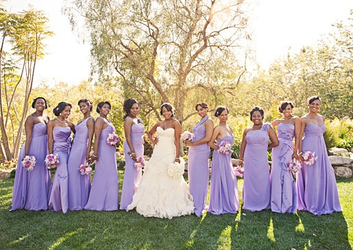 purple ! Lilac bridesmaid dresses, June wedding colors
