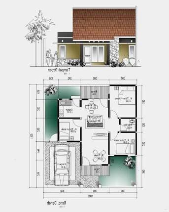 hasil gambar untuk desain rumah 1 lantai 3 kamar | denah