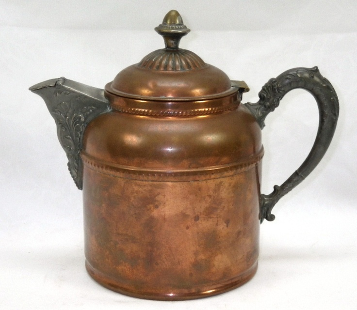 Antique Rochester Stamping Works NY 1800's Ornate Copper Coffee Pot | eBay