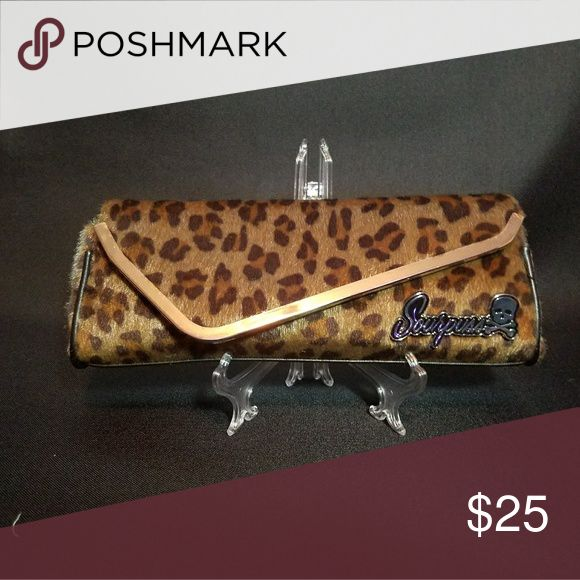 Leopard print clutch New with tags  Sourpuss leopard print clutch Bags Clutches & Wristlets