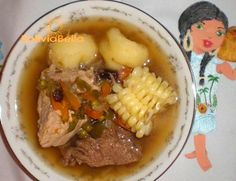 Picana: a traditional Bolivian  soup made with both beer and wine.