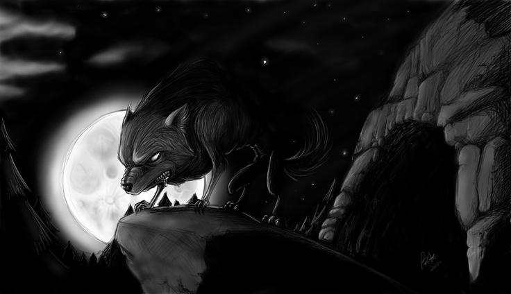 Mi versión de hombre/mujer lobo. Werewolf